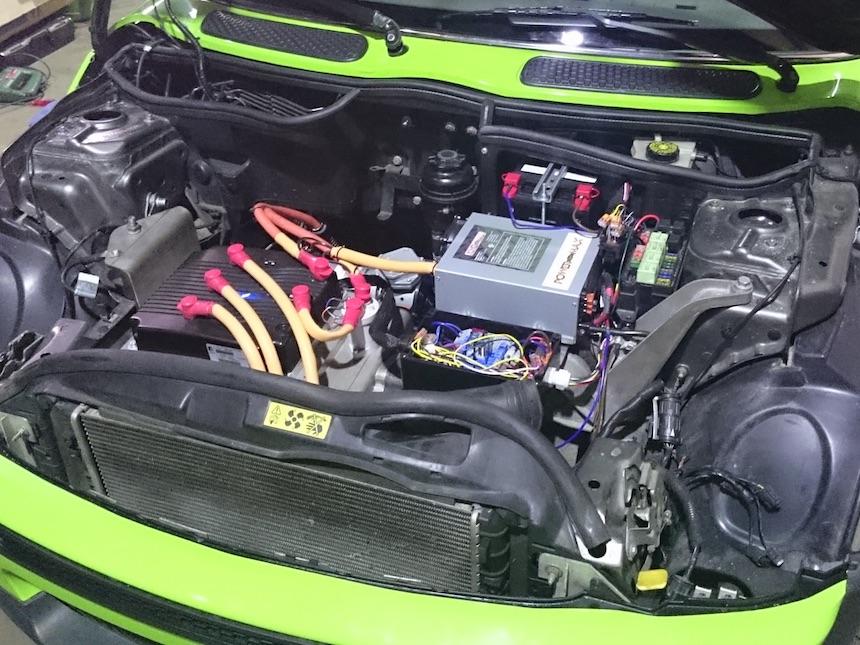Motorraum des EMini