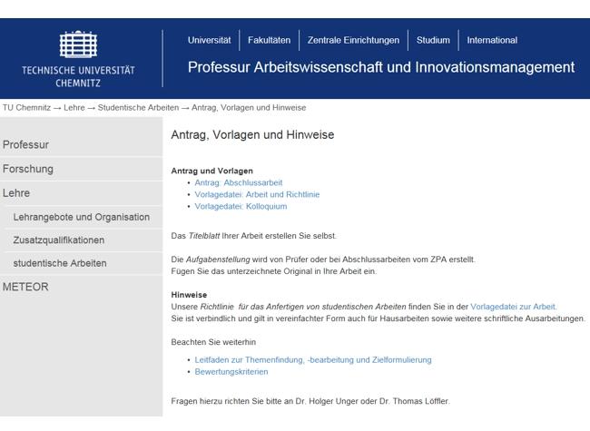 Richtlinie und Vorlage für studentische Arbeiten v5.1   Professur ...