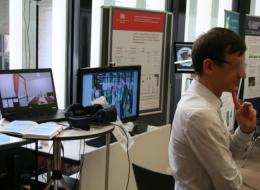 Präsentationsstand zum Forschungsprojekt AUXILIA