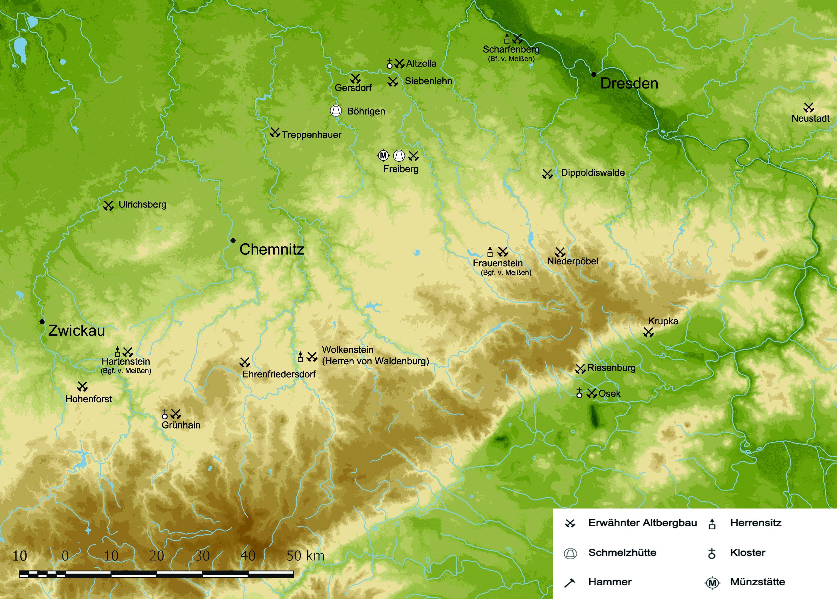 Bergbau Erzgebirge Karte.Chemnitzer Geschichtskalender
