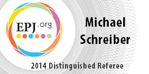 Logo: [EXTERN] 2014 Prof. Schreiber was selected as a Distinguished Referee for The European Physical Journal.