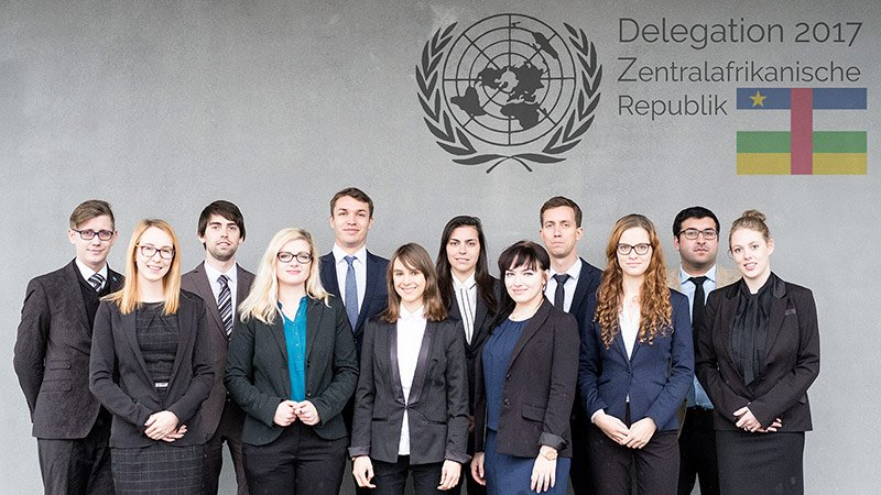 In 2017, twelve TU Chemnitz delegates will represent the Central African Republic.