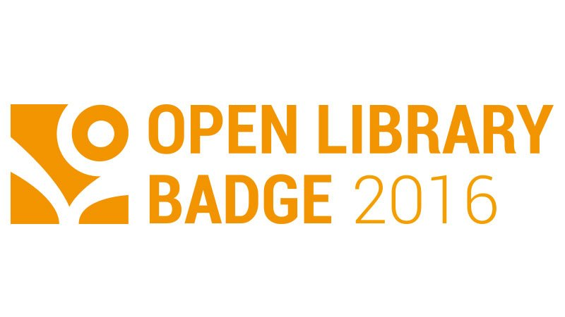 "Logo des ""Open Library Badge 2016"""
