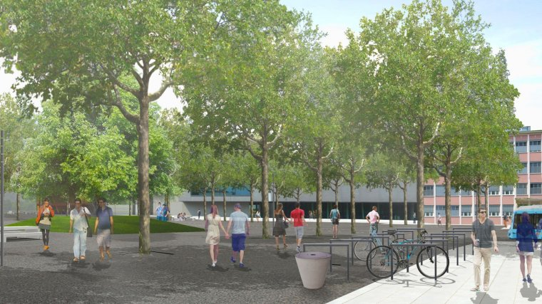 Visualisation: The new Campus Plaza.
