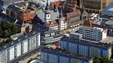Air view of the city of Chemnitz.