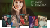 These six Chemnitz University students are the face of the information portal.