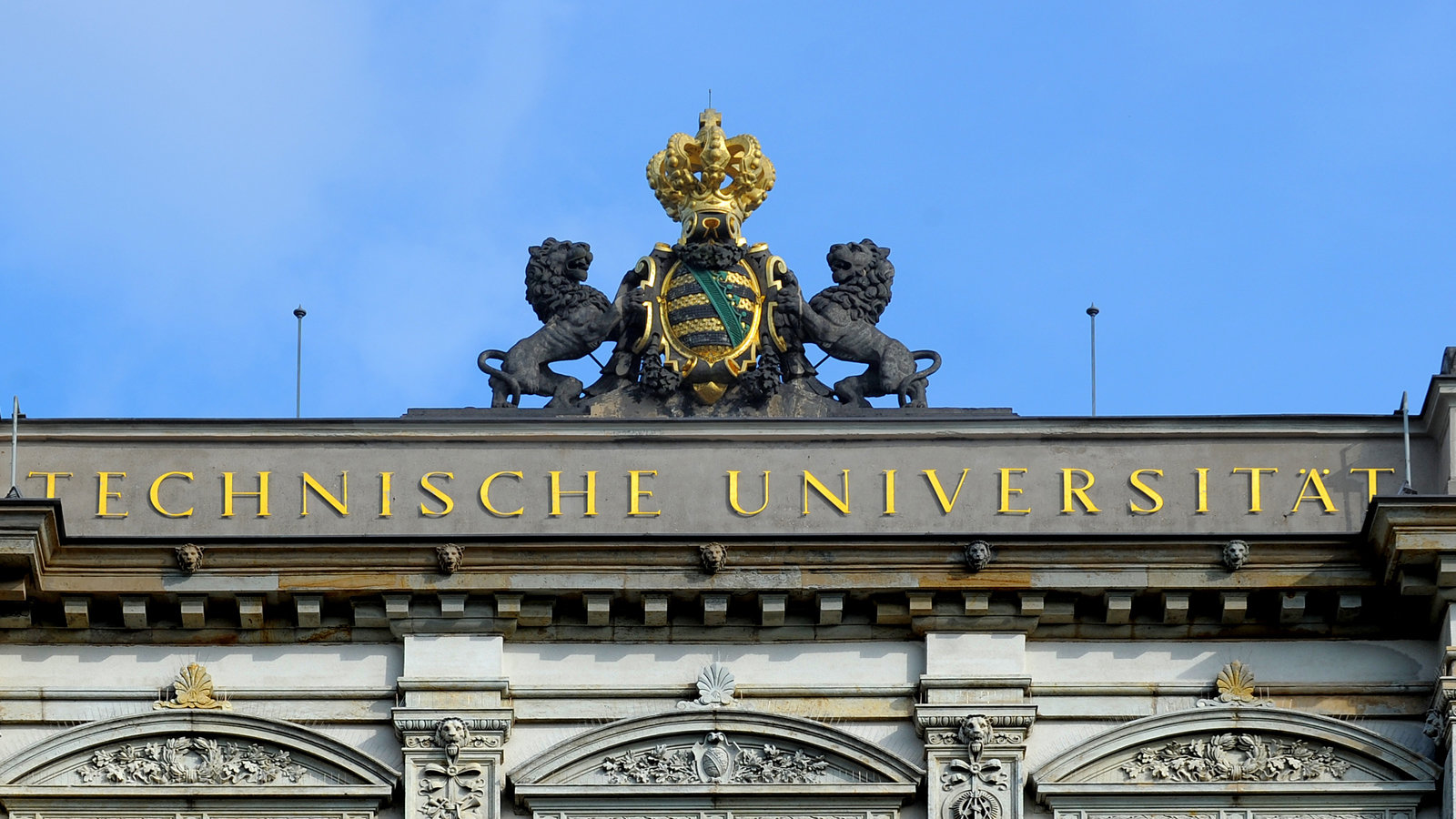 The saxonian sign on top of chemnitz university.