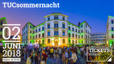 Böttcher Building at Chemnitz University with colorful lighting