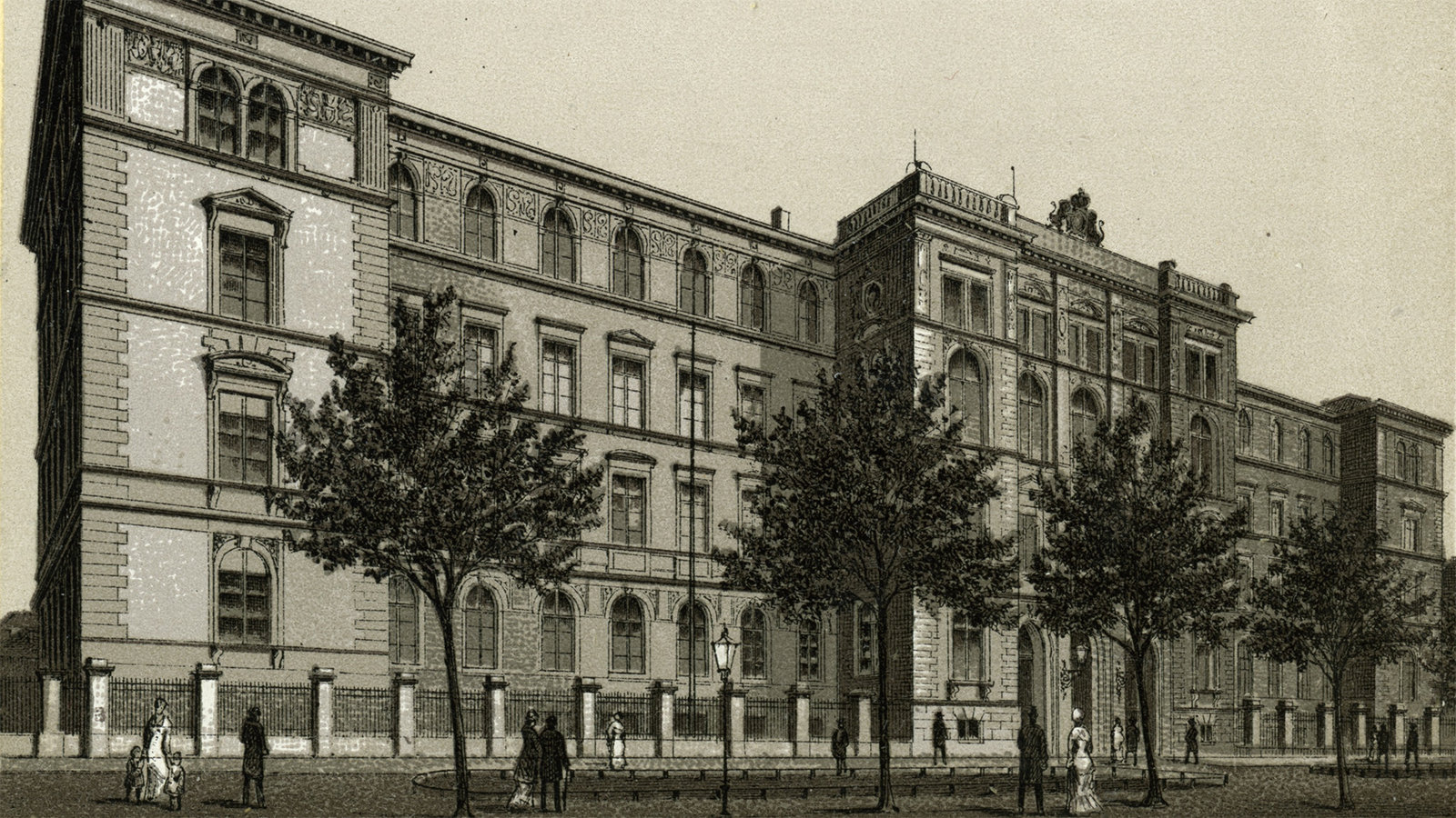 picture of the Böttcher Building from 1885