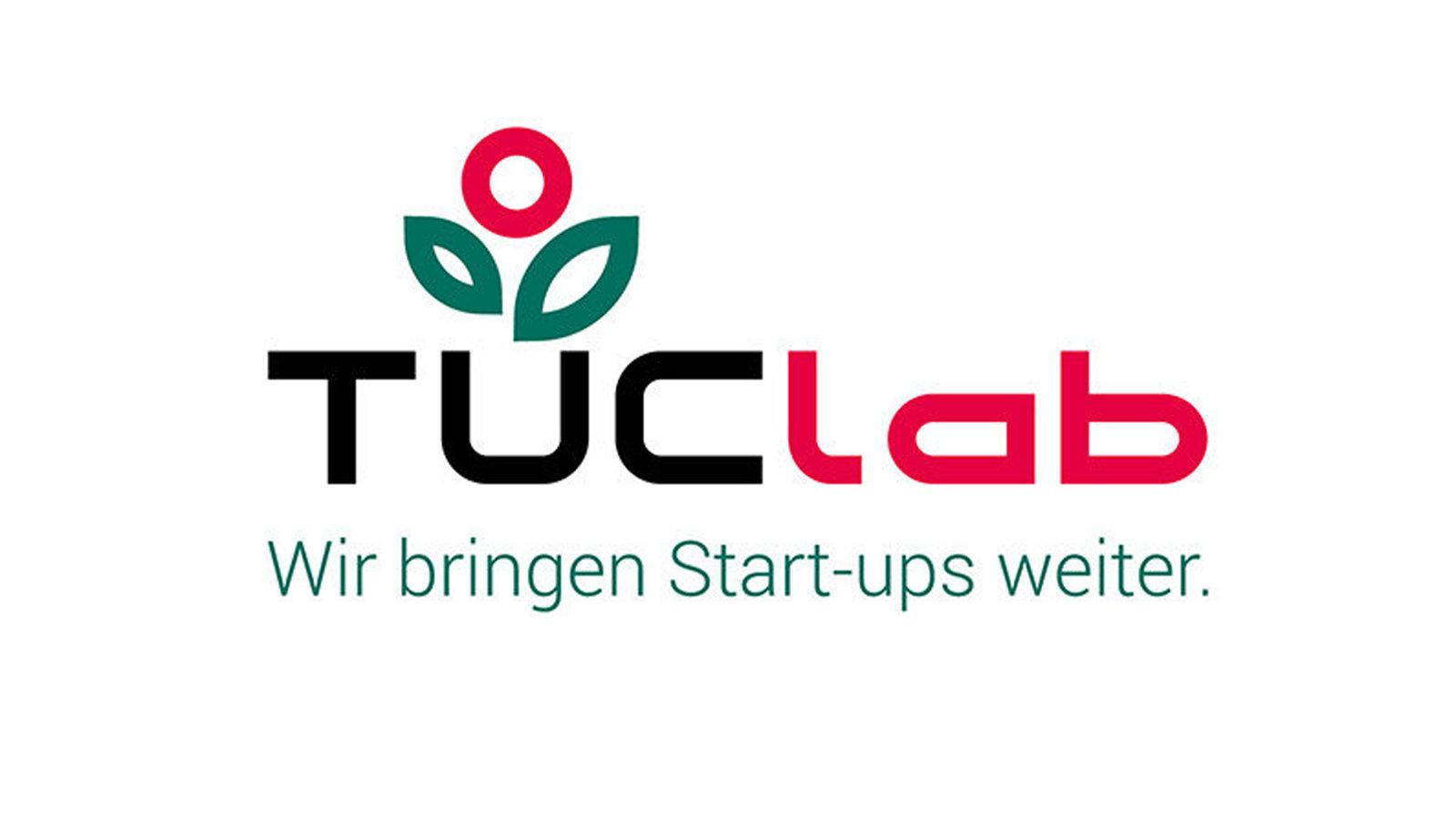 Logo zeigt Namenszug TUClab und eine symbolisierte Pflanze