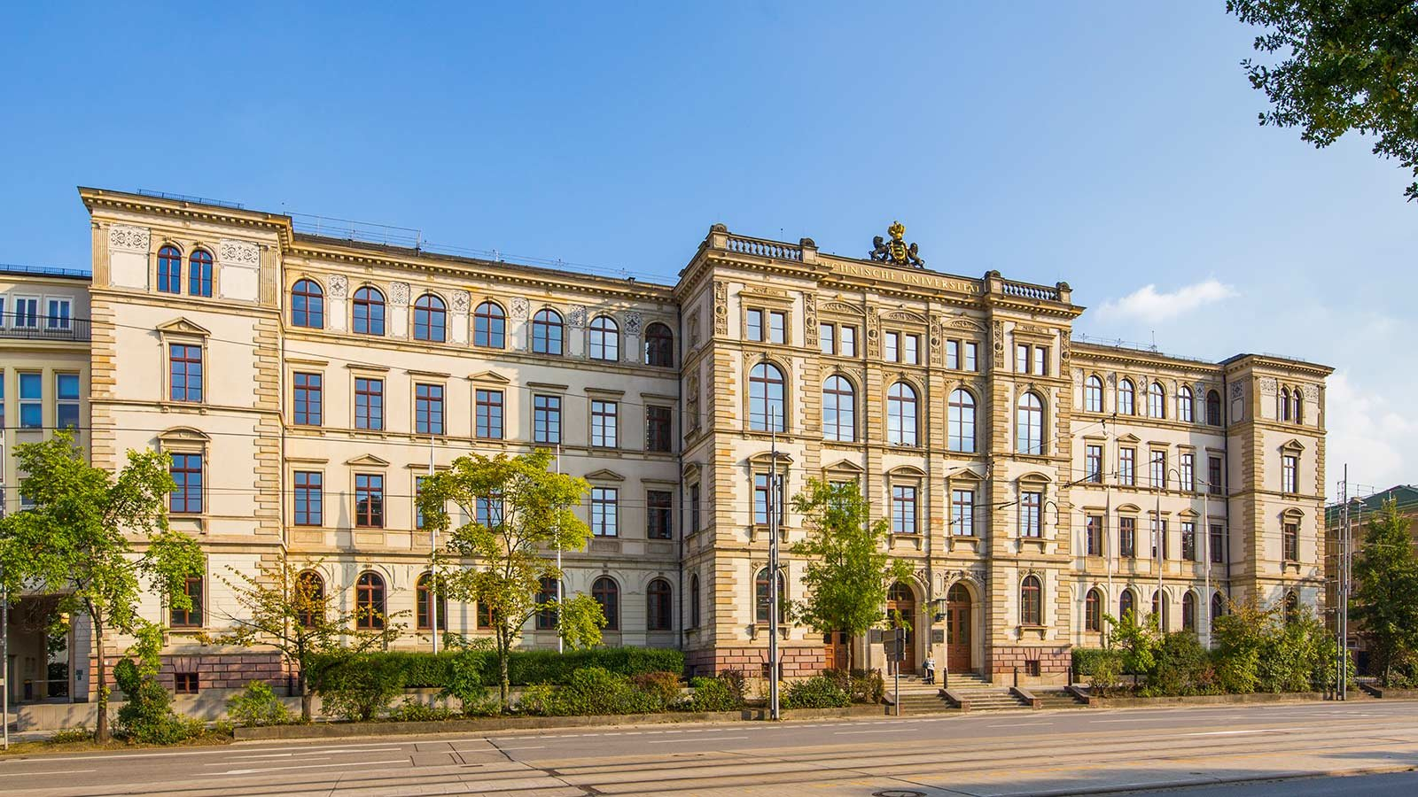 Main building of Chemnitz University of Technology.