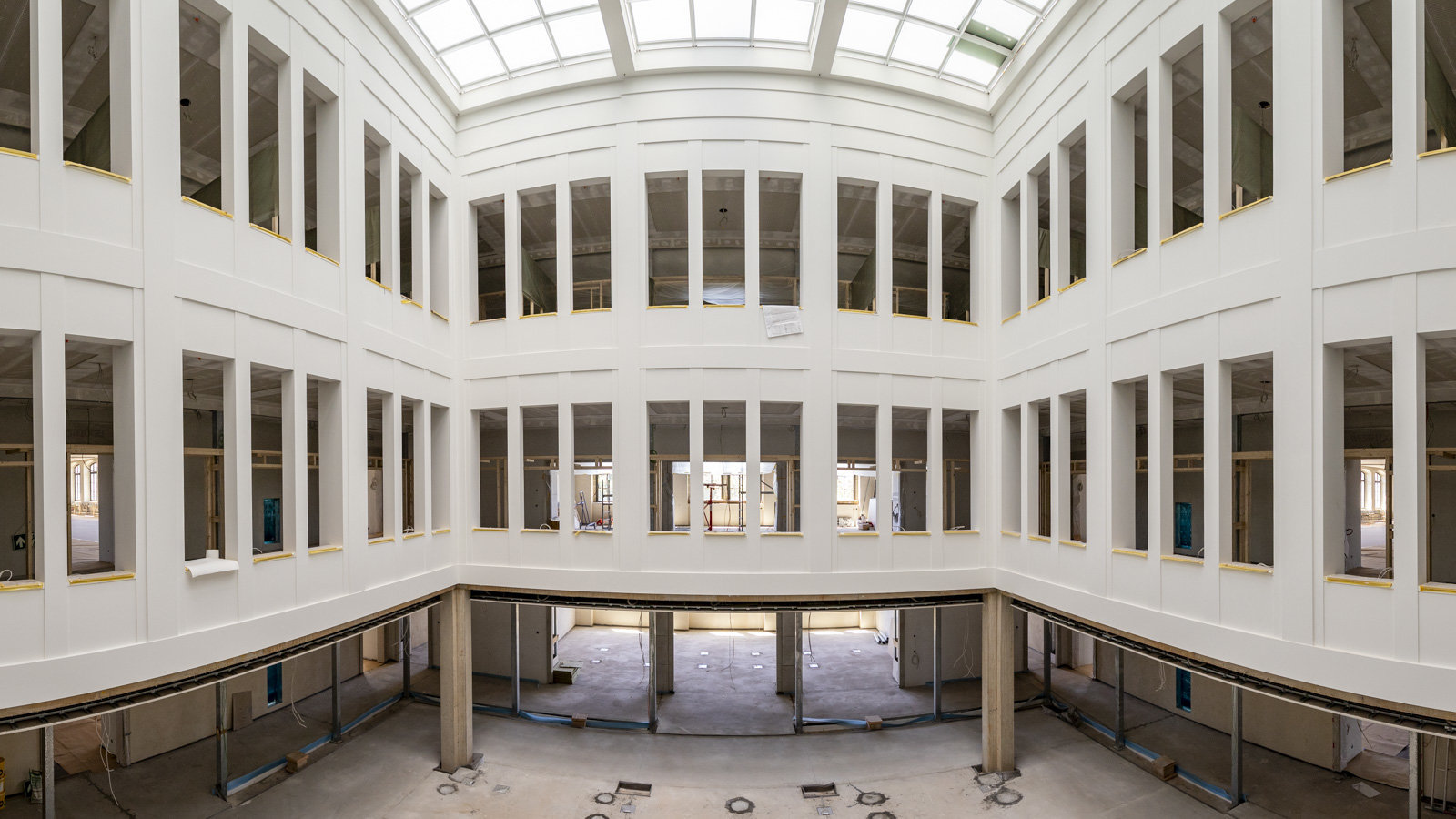 Look inside the main reading hall of the new university library.