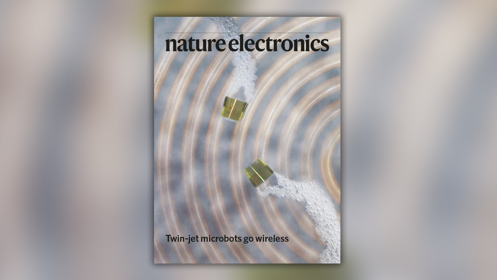 Cover of the recent volume of Nature Electronics.