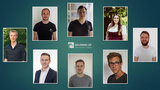 "Headshots of seven young men and one young women arranged around the caption ""Data Mining Cup."""