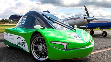 Photo of a racing car.