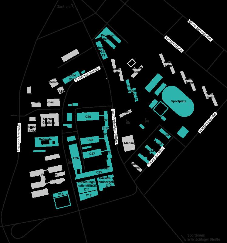 Chemnitz Karte.C Reichenhainer Str Campus Map University Tu Chemnitz