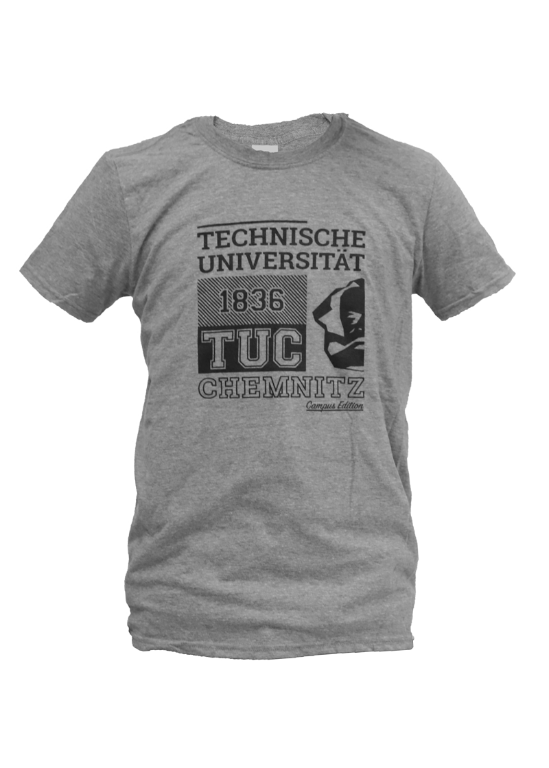 "T-Shirt ""Campus Edition"" - Grau/Schwarz"
