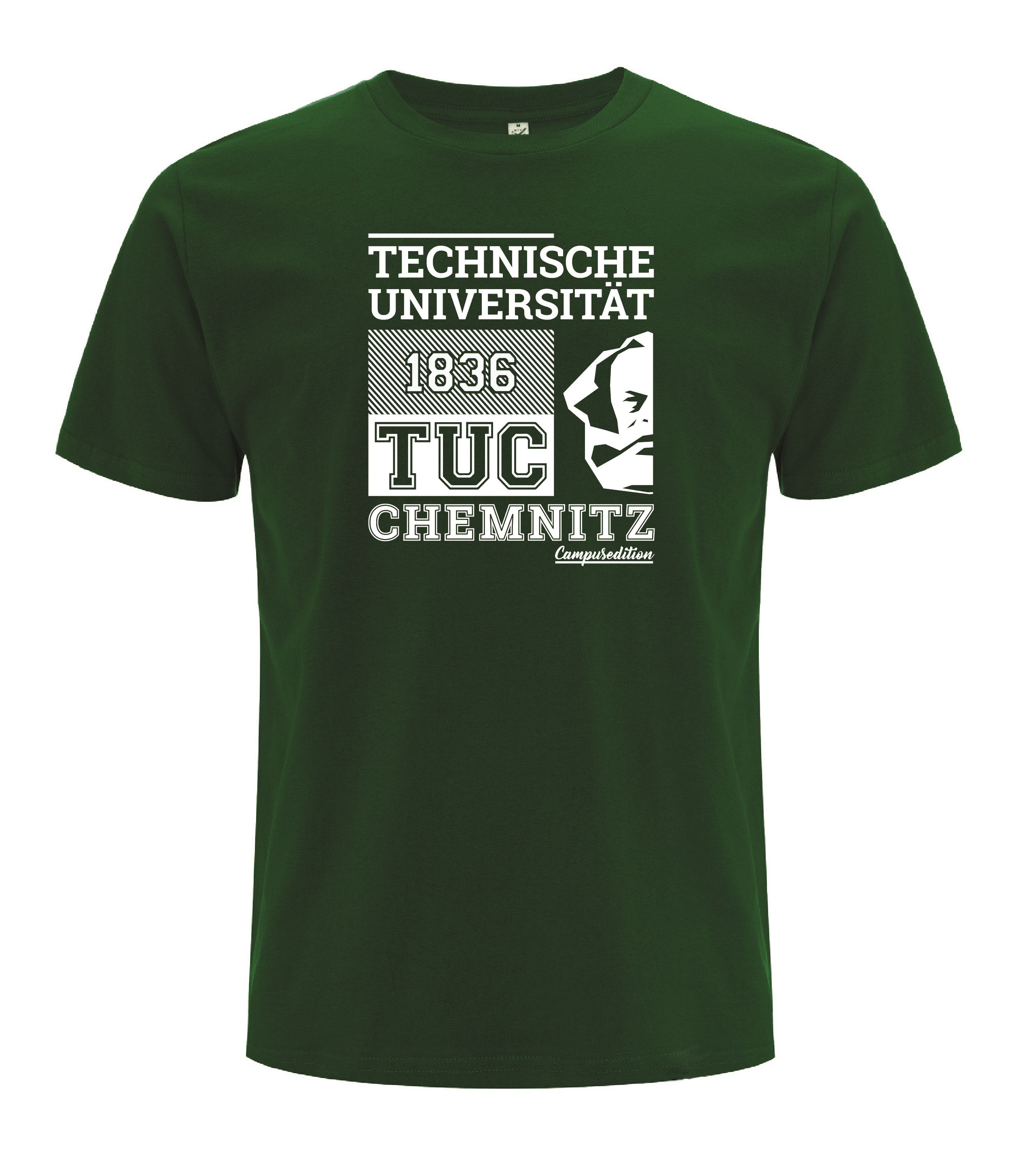 "T-Shirt ""Campus Edition"" - Dunkelgrün"