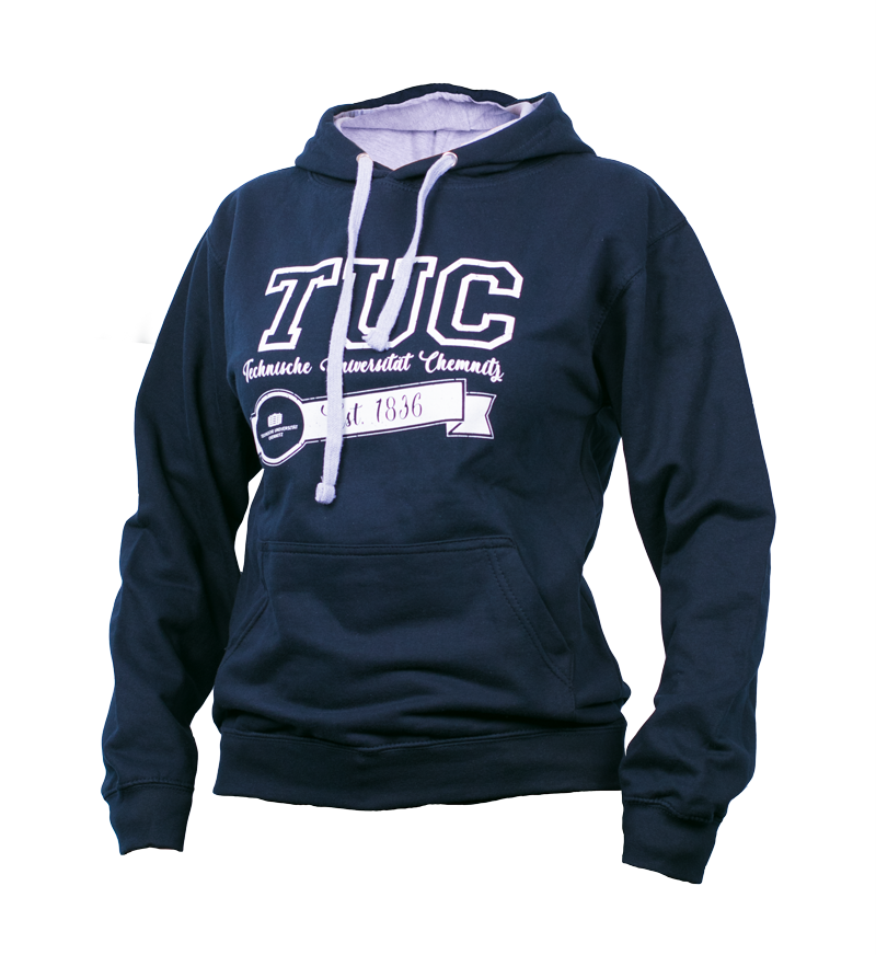 "**NEU** Sweatshirt mit Kapuze ""TUC Edition"" - Navyblau/Heather Grau"