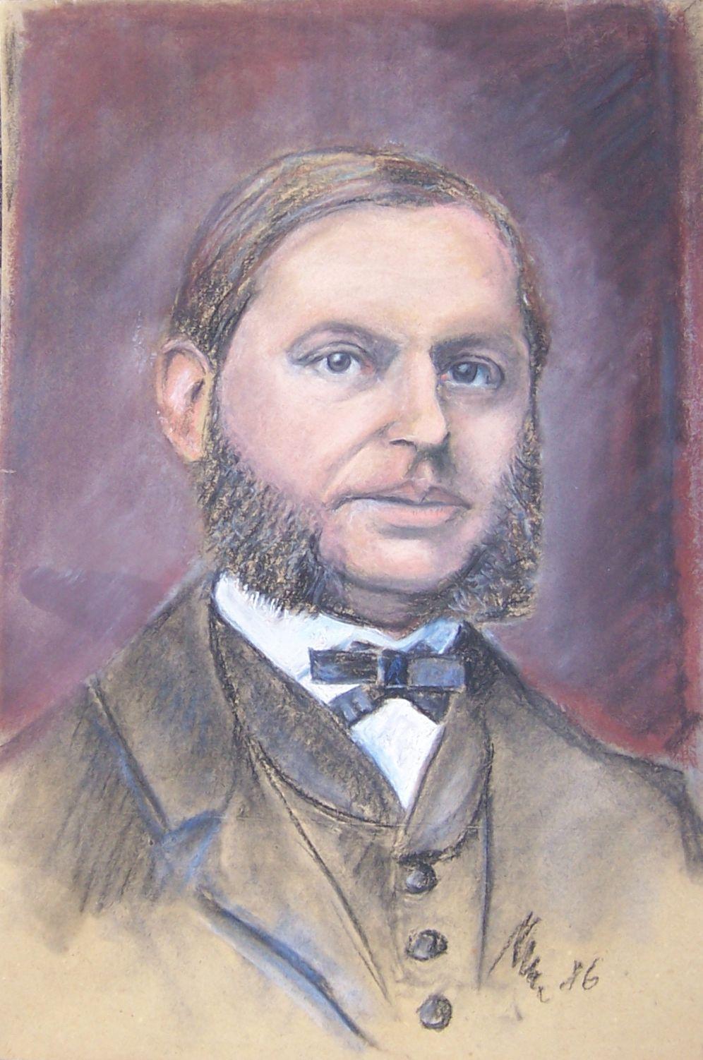 Zeichnung: Portrait von Theodor Eduard Böttcher © Universitätsarchiv