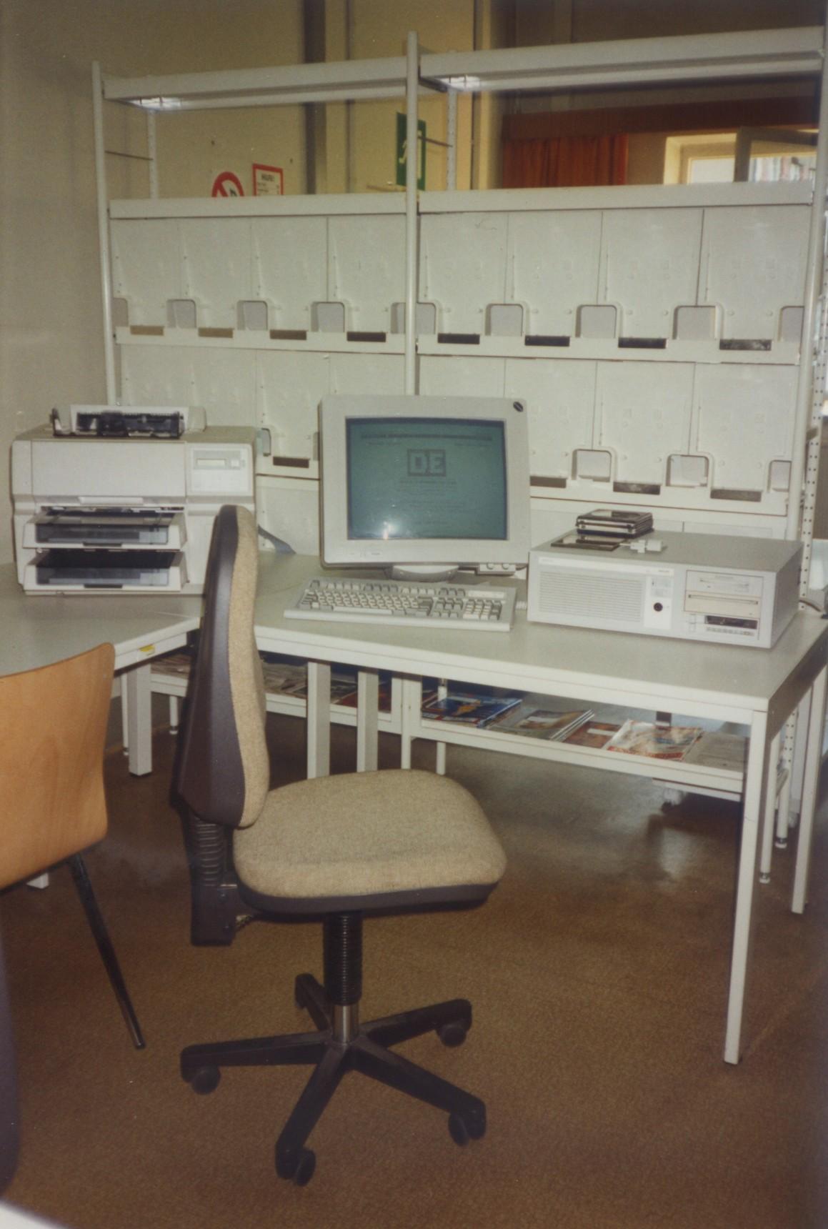 Foto: Der erste Computer im Patentinformationszentrum 1994 © Patentinformationszentrum