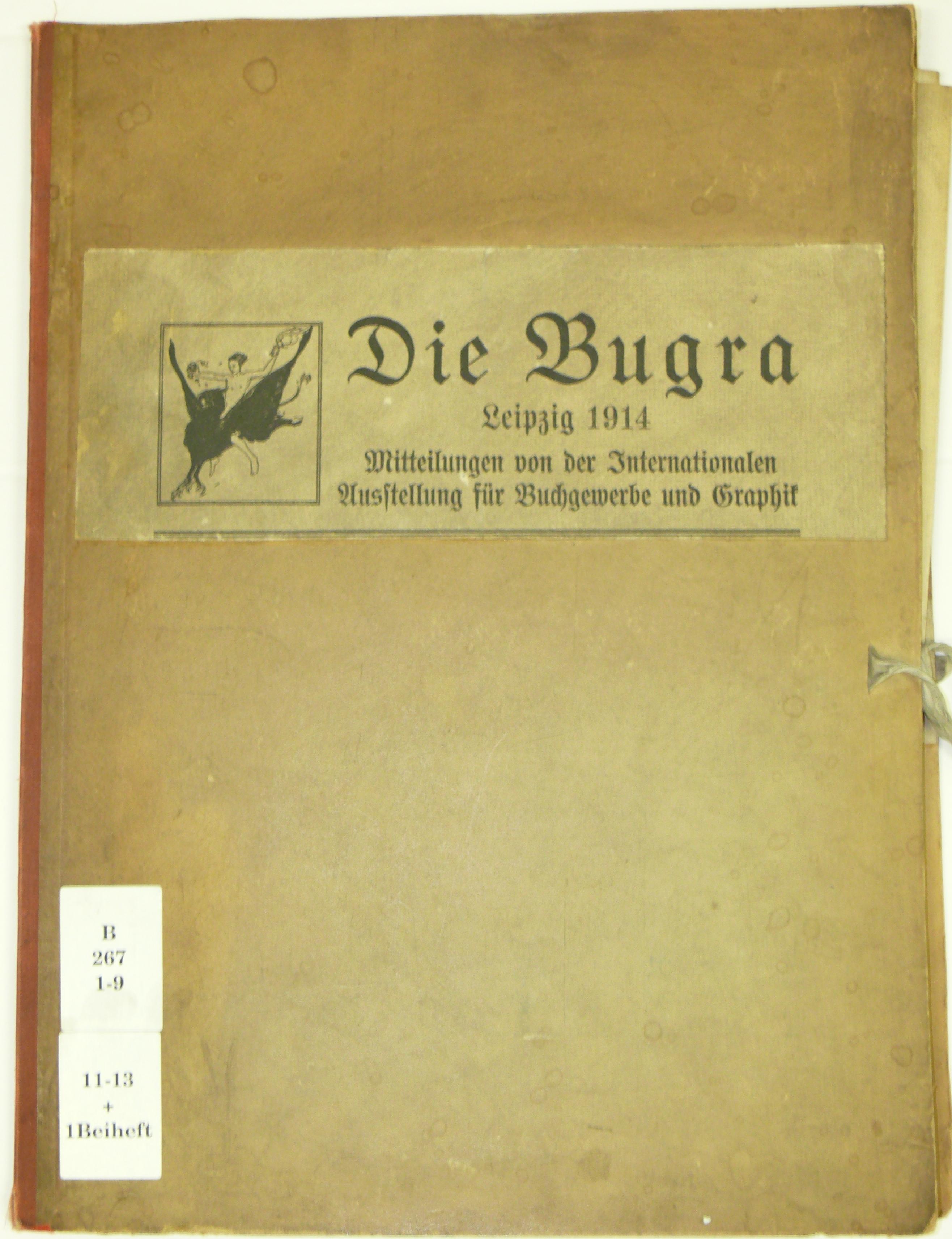 Mappe Vorderansicht mit Titelschild: Die Burga