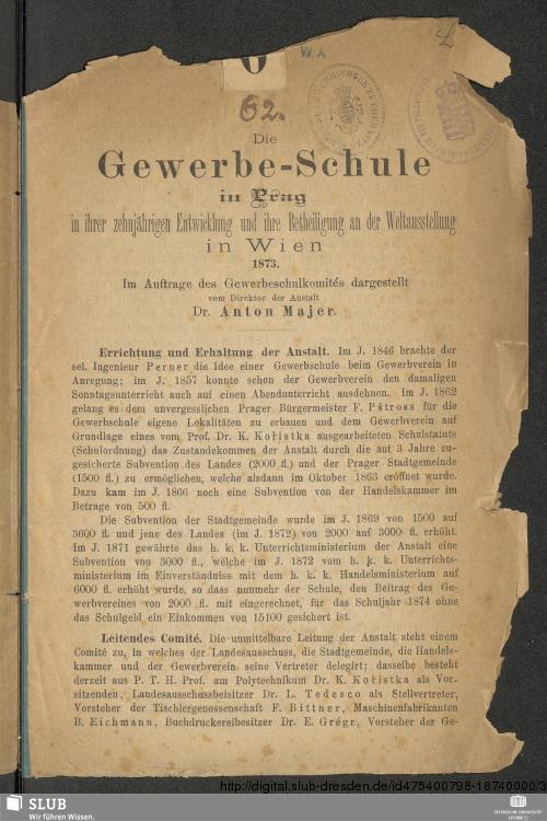 aufgeklapptes Buch mit Titelseite