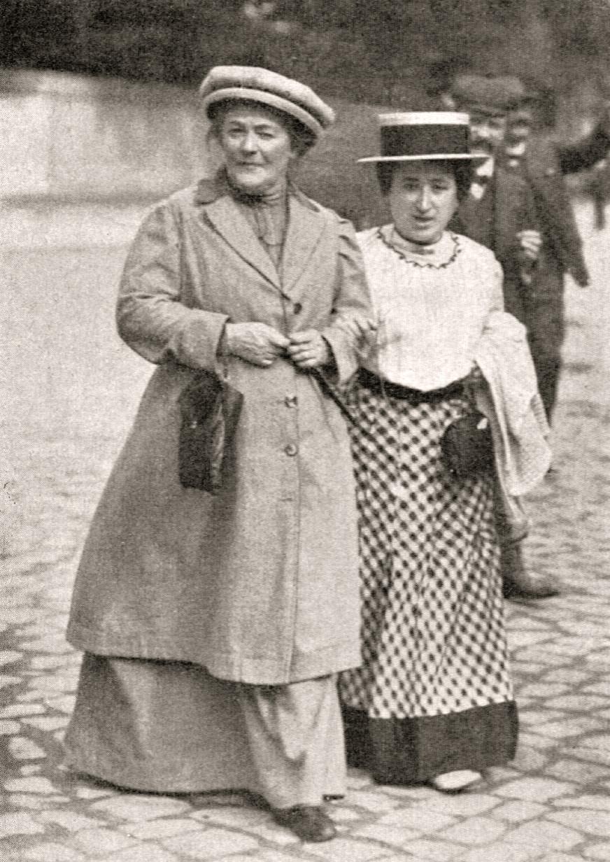 Clara Zetkin und Rosa Luxenburg, 1910
