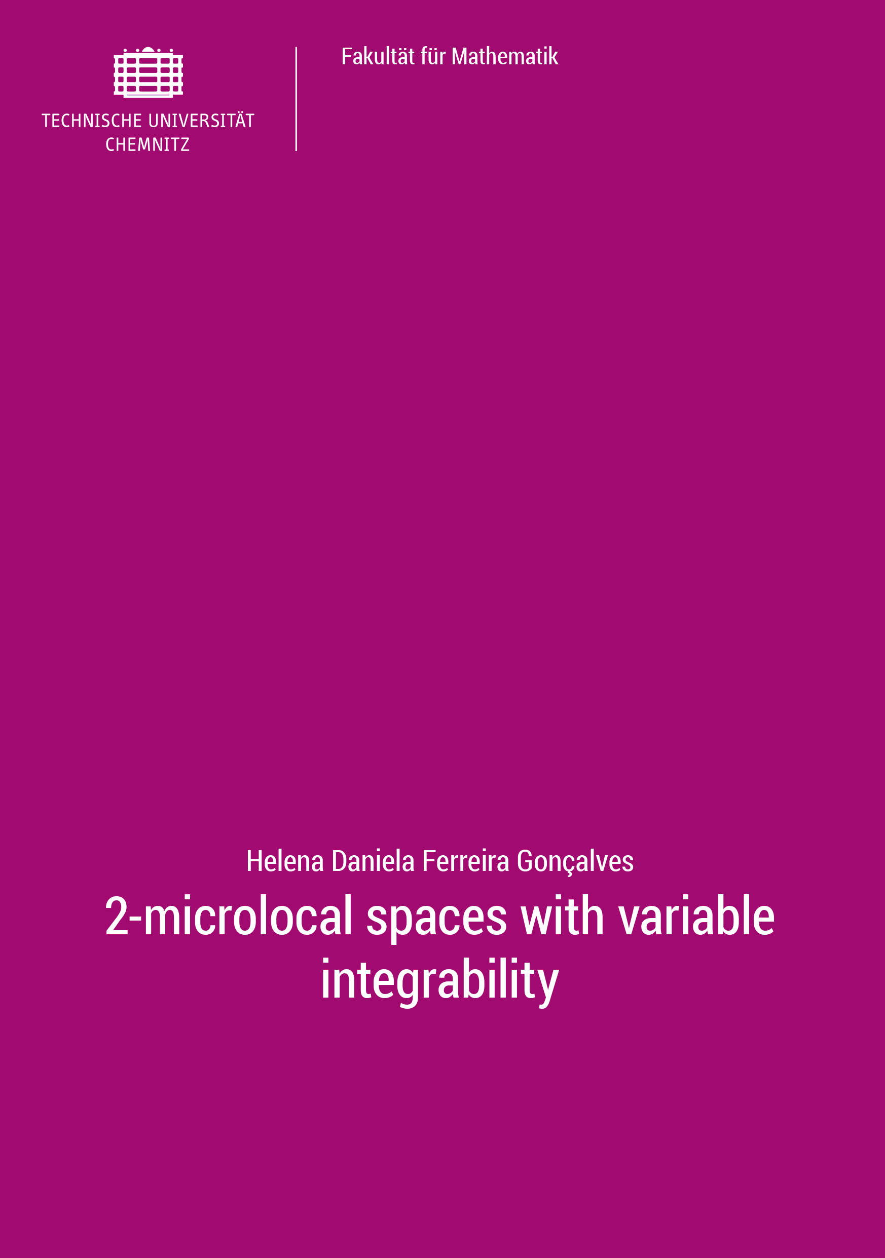 Cover: 2-microlocal spaces with variable integrability