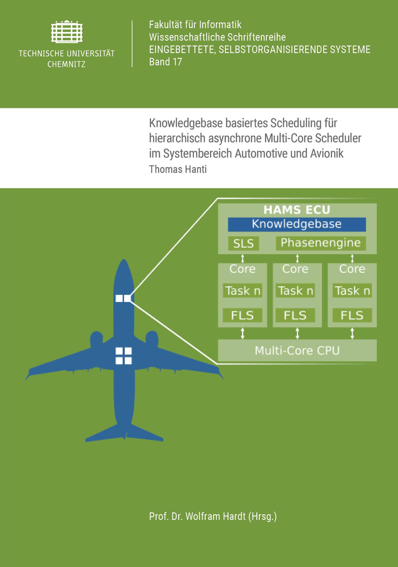 Cover: Knowledgebase basiertes Scheduling für hierarchisch asynchrone Multi-Core Scheduler im Systembereich Automotive und Avionik