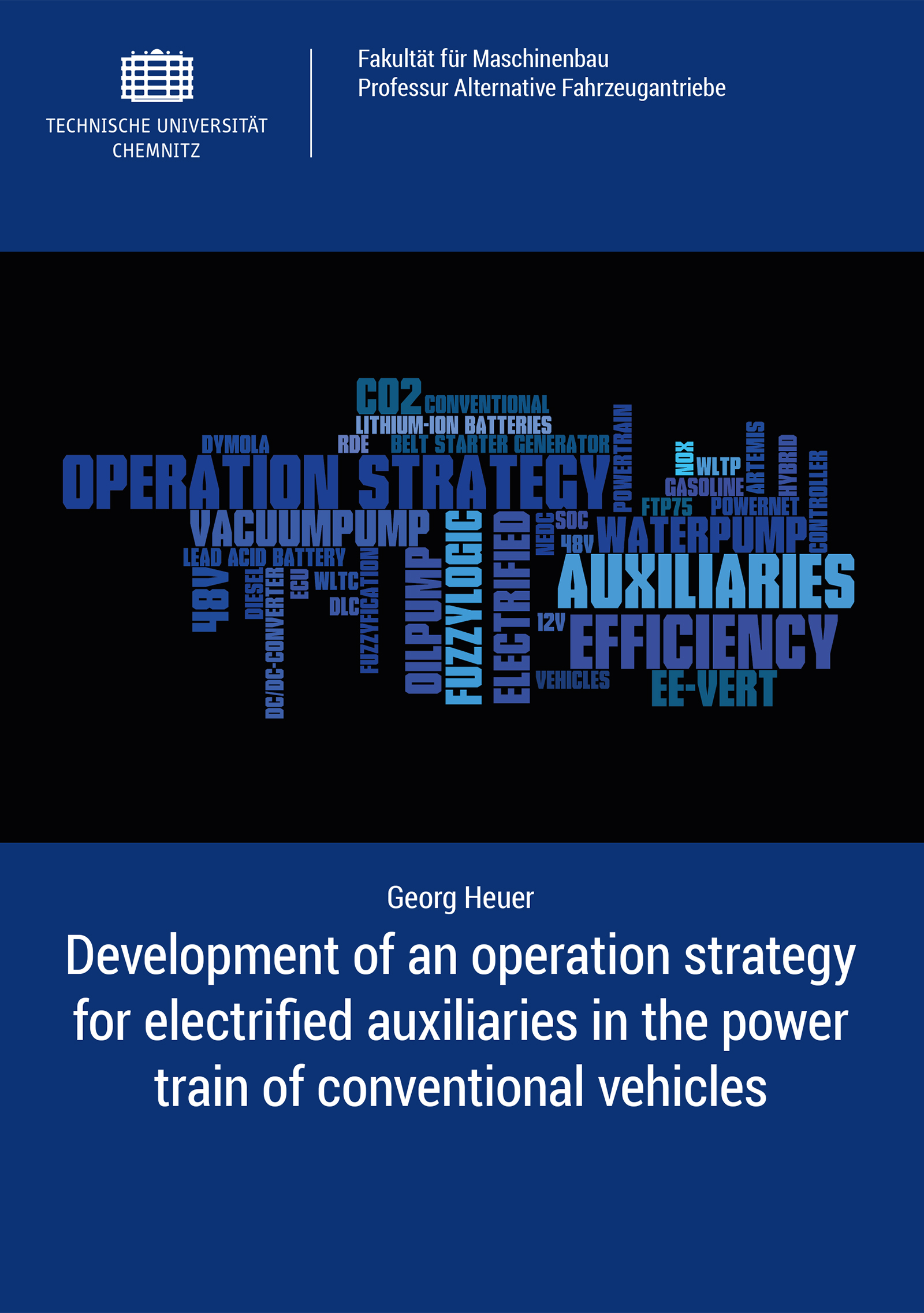 Cover: Development of an operation strategy for electrifed auuiliaries in the power train of conventional vehicles
