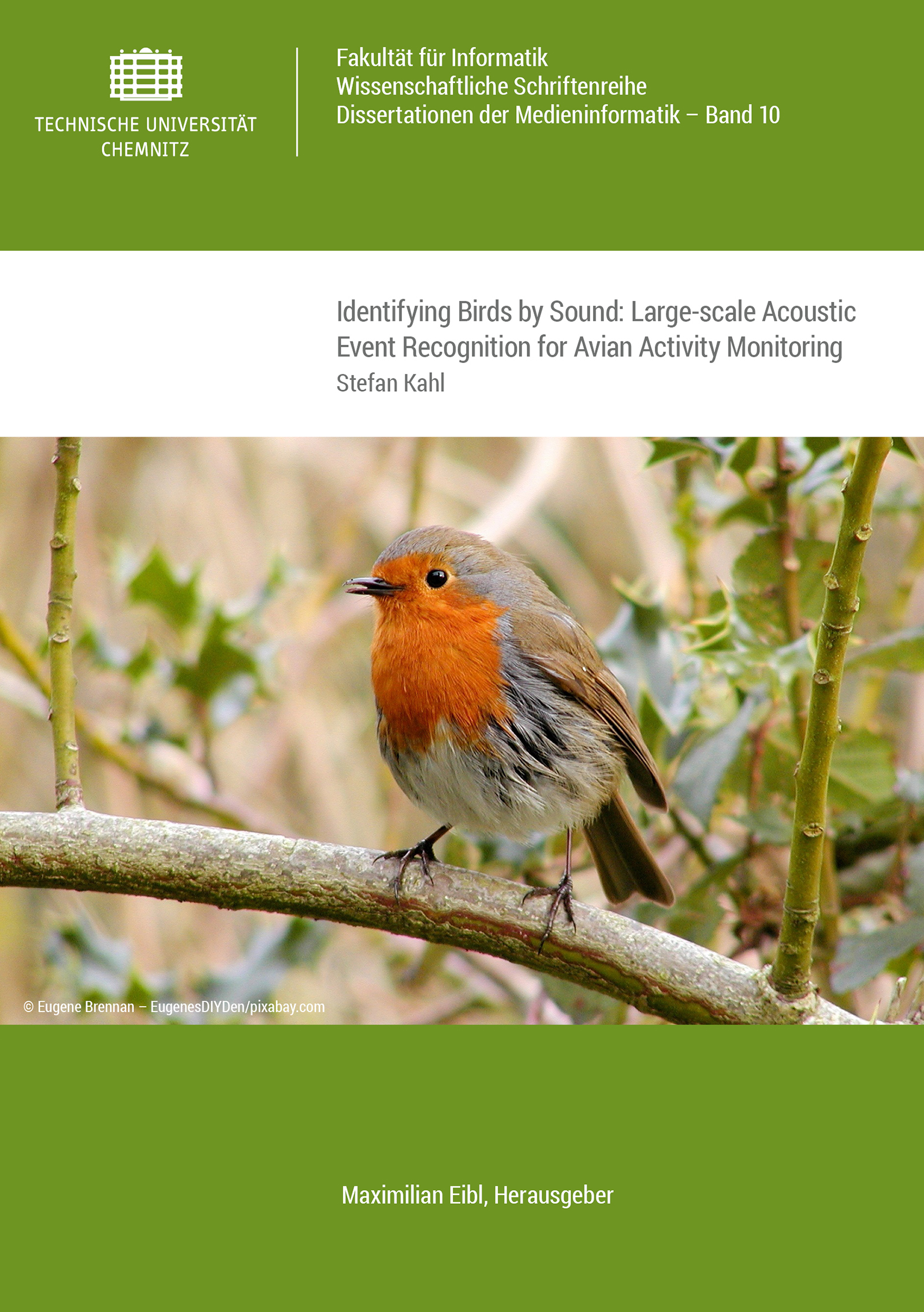 Cover: Identifying Birds by Sound: Large-scale Acoustic Event Recognition for Avian Activity Monitoring