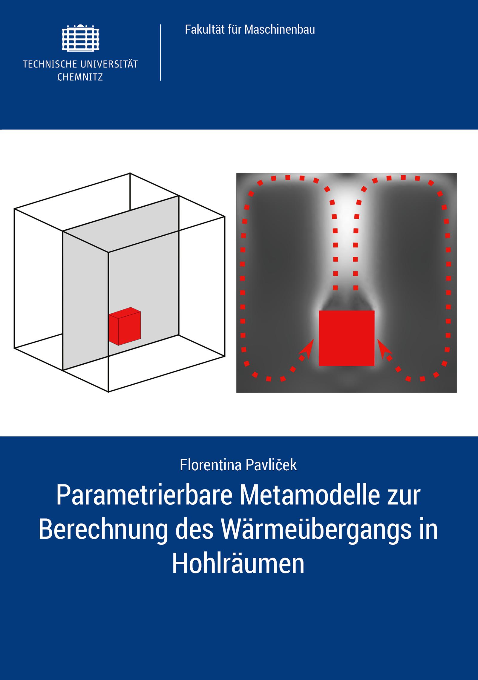 Cover: Parametrierbare Metamodelle zur Berechnung des Wärmeübergangs in Hohlräumen