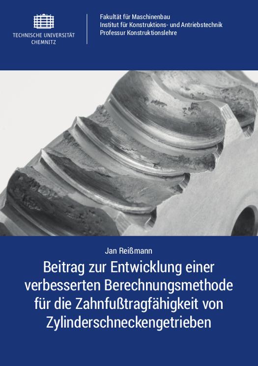 Cover: Beitrag zur Entwicklung einer verbesserten Berechnungsmethode für die Zahnfußtragfähigkeit von Zylinderschneckengetrieben