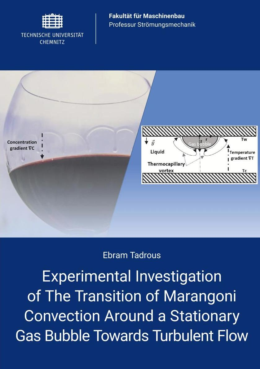 Cover: Experimental investigation of the transition of Marangoni convection around a stationary gas bubble towards turbulent flow