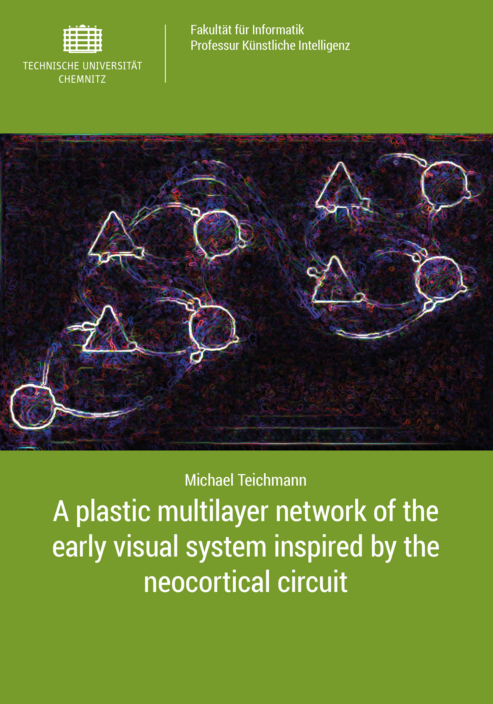 Cover: A plastic multilayer network of the early visual system inspired by the neocortical circuit