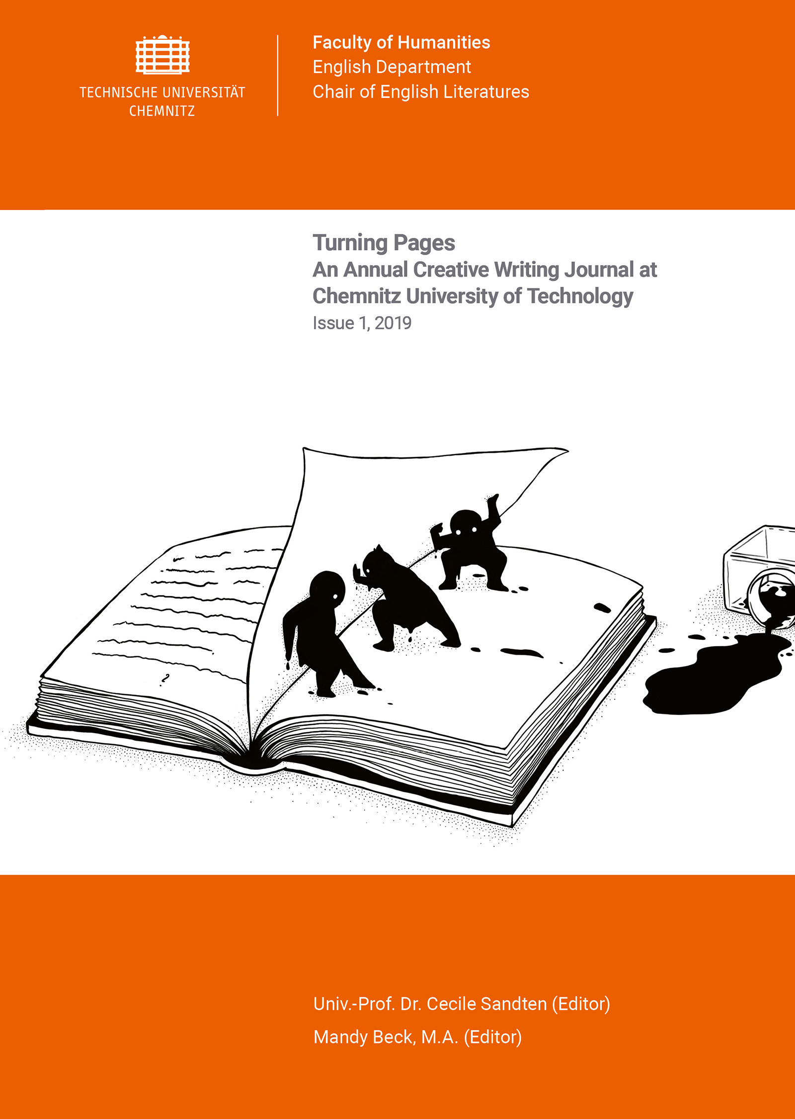 Cover: Turning Pages, Issue 1, 2019 / Editors: Cecile Sandten, Mandy Beck