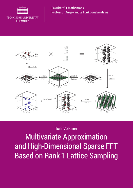 Cover: Multivariate Approximation and High-Dimensional Sparse FFT Based on Rank-1 Lattice Sampling