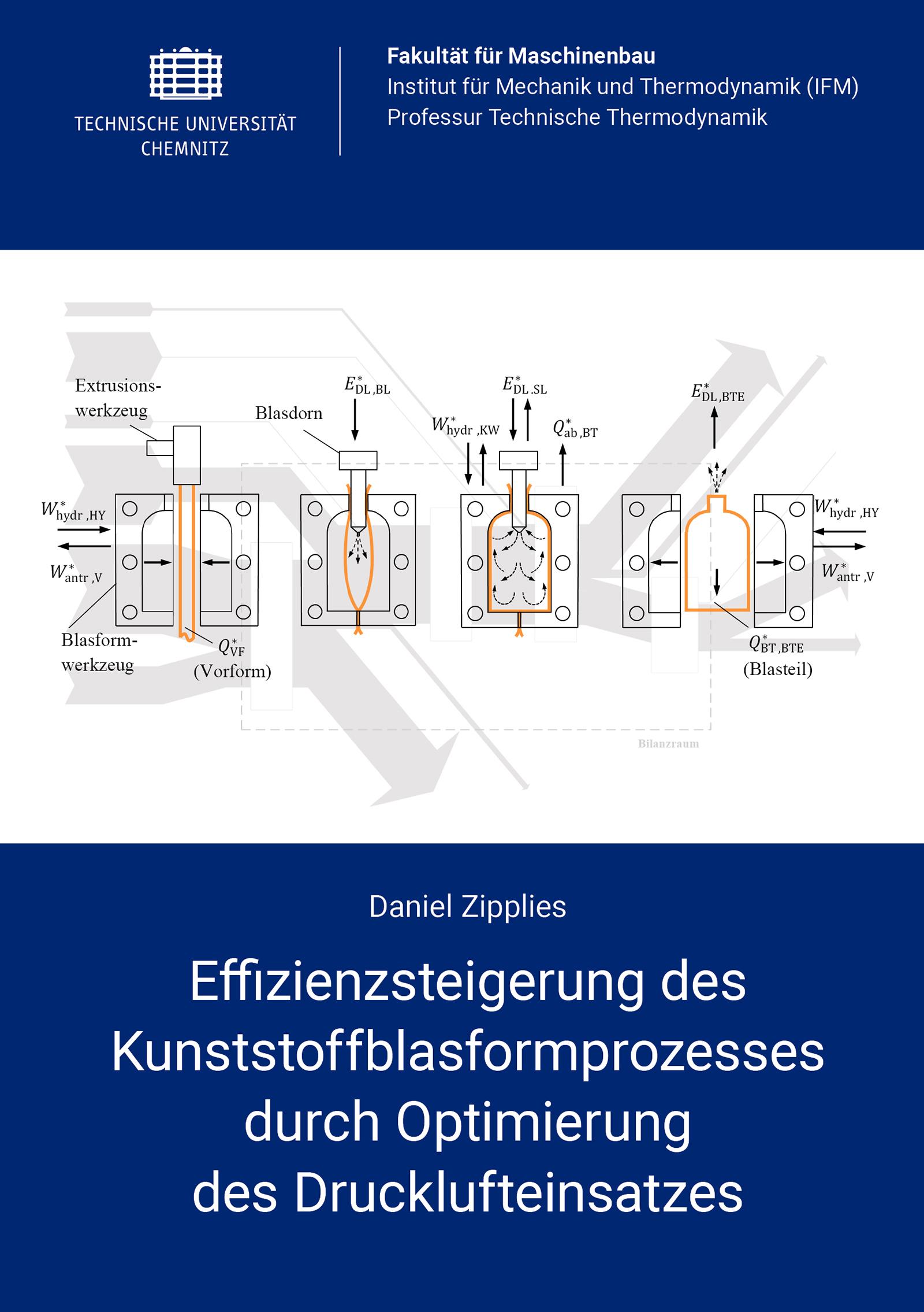 Cover: Effizienzsteigerung des Kunststoffblasformprozesses durch Optimierung des Drucklufteinsatzes