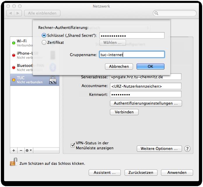 VPN | Netzzugang | Campusnetz | Dienste | URZ | TU Chemnitz